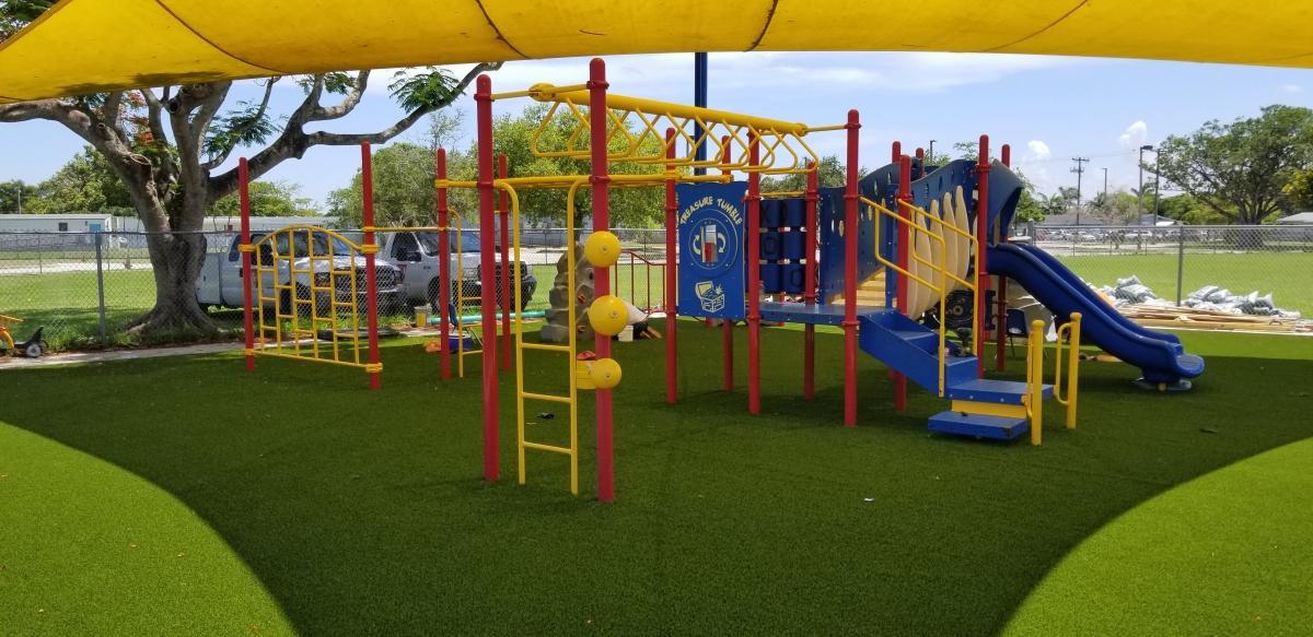 new playground turf
