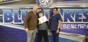 Recipient of $25 gift card for eating breakfast every day at school