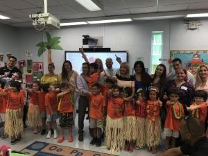 Kindergarten commencement with Board Member Maritere Rojas