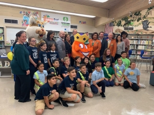 Media Center Reveal with Orange Bowl Committee, School Specialty, College Football Playoff Foundation, and Miami Dade County Public Schools Library/ Media Services